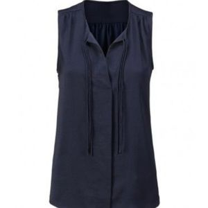 CAbi Finale Blouse Navy Blue Sleeveless #3438